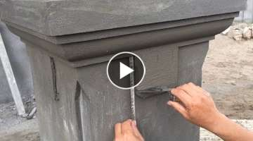 Smart Construction Skills - Rendering Sand And Cement To the Column Foot, Construction Daily