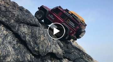 Traxxas TRX4 Defender Beach Rock Crawling_#
