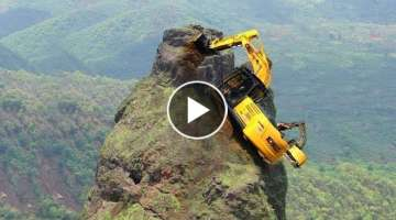 World's Dangerous Idiots Construction Excavator Heavy Equipment Operator Driving Machines Skill