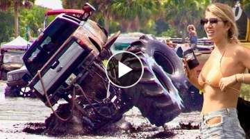 EPIC FAIL! Ford F-250 Platinum Deep Mud Rollover