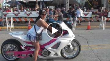 Daytona Bike Week - Biker Chicks, 150 Strong. YOWZA!