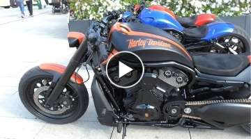 Rare Harley Davidson by Porsche - Burnouts and Brutal Sounds