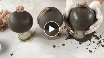 Project Cement craft | Ideas Make Mushrooms Cement With Foot Socks Of Wife | Garden Decoration