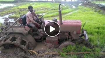 How to remove a tractor from mud pitt
