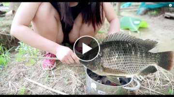 Top 5 Primitive Technology and Cooking HD - Cooking fish - Do you want to try ?