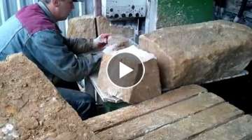 This is how sandstone paving is produced - 100% natural stone quartz sandstone