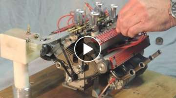 Schillings V8 80cc model engine running with great sound.avi