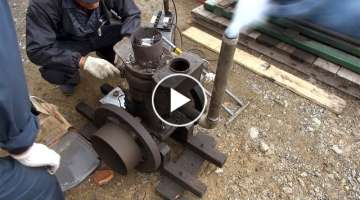 Old Engines in Japan 1930s SATO's SEMI DIESEL ENGINE 2hp Part 1 いにしえの発動機たち 19...